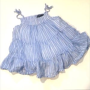 ❣️BLUE AND WHITE STRIPED SUMMER DRESS